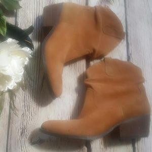 White Mountain | Cognac Genuine Suede Booties 7M